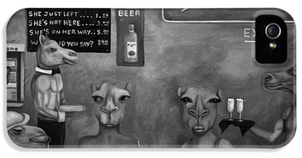 Wednesday iPhone 5 Cases - Hump Day BW iPhone 5 Case by Leah Saulnier The Painting Maniac