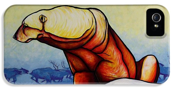 Hunger Burns - Polar Bear IPhone 5 / 5s Case by Joe  Triano