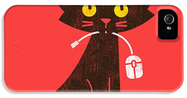 Black Cat iPhone 5 Cases - Hungry hungry cat iPhone 5 Case by Budi Satria Kwan