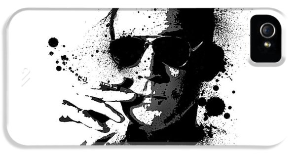 Fear iPhone 5 Cases - Hunter S. Thompson iPhone 5 Case by Laurence Adamson