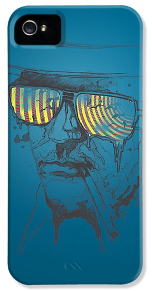 Historical iPhone 5 Cases - Hunter S. Thompson iPhone 5 Case by Pop Culture Prophet