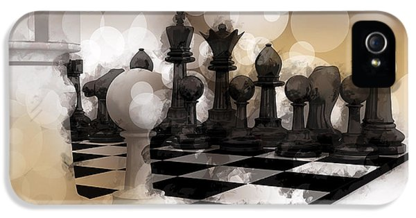 Chess Board iPhone 5 Cases - I DREAM of CHESS ... iPhone 5 Case by Daniel Hagerman