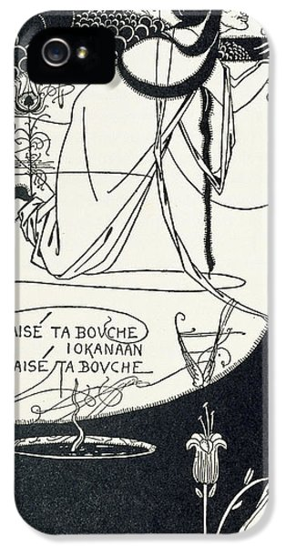 John The Baptist iPhone 5 Cases - I kissed your mouth iPhone 5 Case by Aubrey Beardsley
