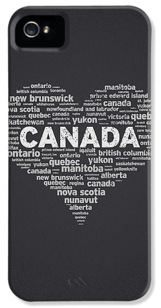 Proud iPhone 5 Cases - I Love Canada iPhone 5 Case by Aged Pixel