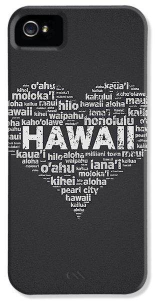 Proud iPhone 5 Cases - I Love Hawaii iPhone 5 Case by Aged Pixel