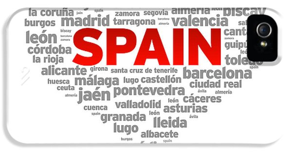 Spain iPhone 5 Cases - I Love Spain iPhone 5 Case by Aged Pixel