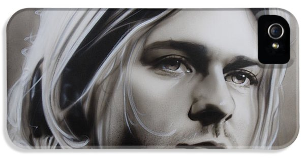 Kurt Cobain iPhone 5 Cases - I Need an Easy Friend iPhone 5 Case by Christian Chapman Art
