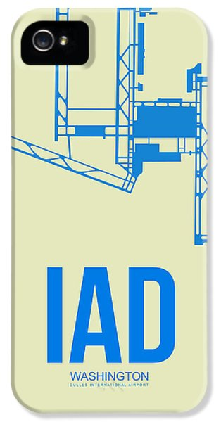 Washington iPhone 5 Cases - IAD Washington Airport Poster 1 iPhone 5 Case by Naxart Studio