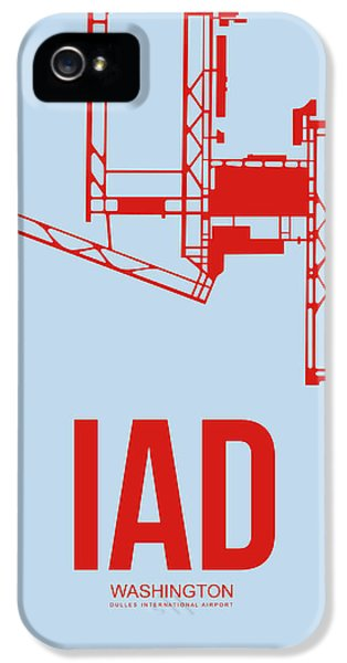 Washington iPhone 5 Cases - IAD Washington Airport Poster 2 iPhone 5 Case by Naxart Studio