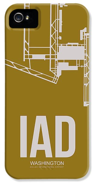 Washington iPhone 5 Cases - IAD Washington Airport Poster 3 iPhone 5 Case by Naxart Studio