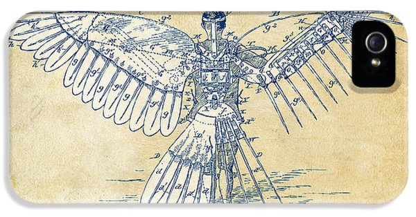 Patent iPhone 5 Cases - Icarus Human Flight Patent Artwork - Vintage iPhone 5 Case by Nikki Smith