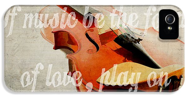 Montage iPhone 5 Cases - If music be the food of love play on iPhone 5 Case by Edward Fielding