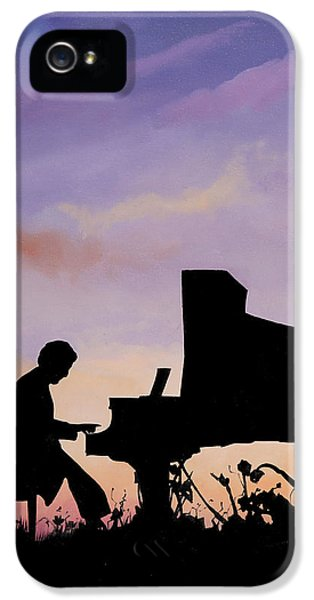 Musical iPhone 5 Cases - Il Pianista iPhone 5 Case by Guido Borelli