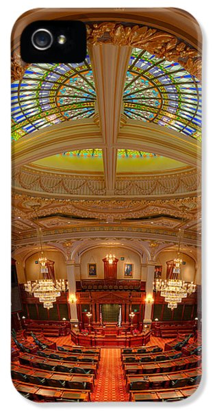 House Of Representatives iPhone 5 Cases - Illinois House Chamber iPhone 5 Case by Steve Gadomski