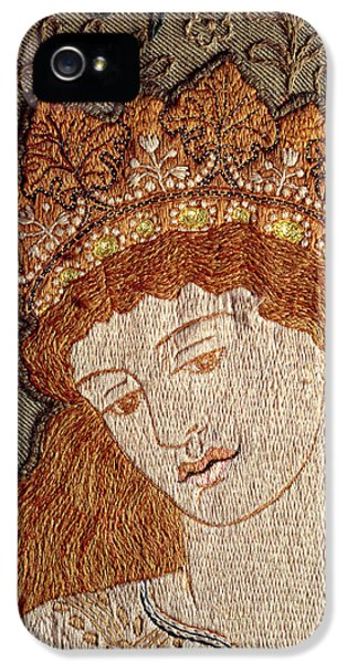 Arts And Crafts Movement iPhone 5 Cases - Illustration From Geoffrey Chaucers Legend Of Good Women C.1875 Tapestry iPhone 5 Case by William Morris