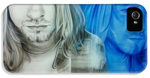Kurt Cobain iPhone 5 Cases - Im Real Good at Hating iPhone 5 Case by Christian Chapman Art