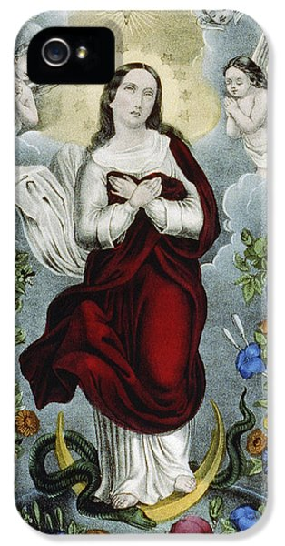 Baptism iPhone 5 Cases - Immaculate Conception Circa 1856  iPhone 5 Case by Aged Pixel