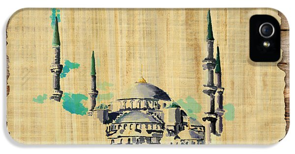 Mohammad iPhone 5 Cases - Impressionistic Masjid e Nabwi iPhone 5 Case by Catf