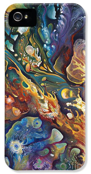 Cell iPhone 5 Cases - In The Beginning iPhone 5 Case by Ricardo Chavez-Mendez