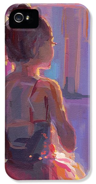 Curtain iPhone 5 Cases - In the Wings iPhone 5 Case by Kimberly Santini