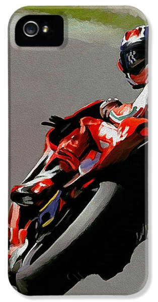 Casey iPhone 5 Cases - In Victory II  Casey Stoner iPhone 5 Case by Iconic Images Art Gallery David Pucciarelli
