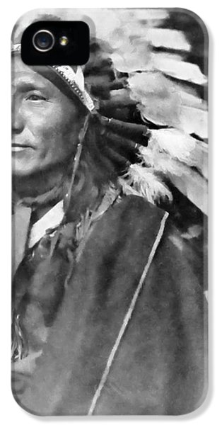 Native American Indian iPhone 5 Cases - Indian Chief - 1902 iPhone 5 Case by Daniel Hagerman