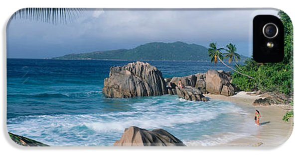 Indian Ocean iPhone 5 Cases - Indian Ocean La Digue Island Seychelles iPhone 5 Case by Panoramic Images