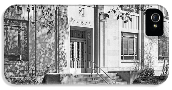 Gi iPhone 5 Cases - Indiana University Merrill Building Entrance iPhone 5 Case by University Icons
