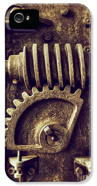 Transmission iPhone 5 Cases - Industrial Sprockets iPhone 5 Case by Carlos Caetano