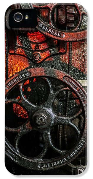 Cable iPhone 5 Cases - Industrial Wheels iPhone 5 Case by Carlos Caetano