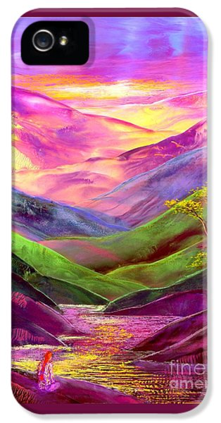 Inner Flame, Meditation IPhone 5 / 5s Case by Jane Small