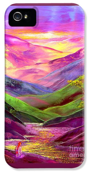 Abstract Landscape iPhone 5 Cases - Inner Flame iPhone 5 Case by Jane Small