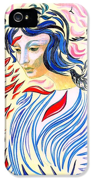 Face iPhone 5 Cases - Inner Peace iPhone 5 Case by Jane Small