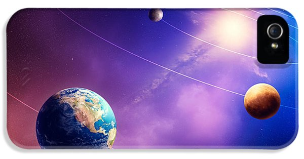 Grid iPhone 5 Cases - Inner solar system planets iPhone 5 Case by Johan Swanepoel