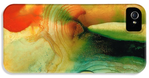Striking iPhone 5 Cases - Inner Strength - Abstract Painting by Sharon Cummings iPhone 5 Case by Sharon Cummings