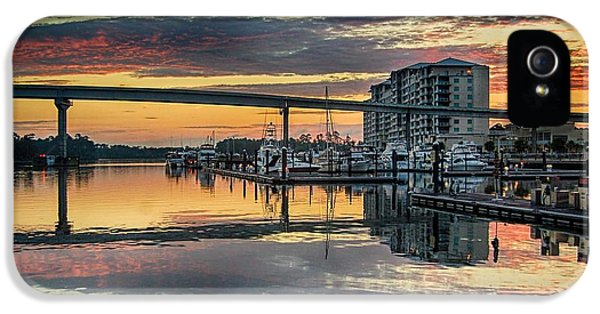 Micdesigns iPhone 5 Cases - Intercoastal Waterway and the Wharf iPhone 5 Case by Michael Thomas