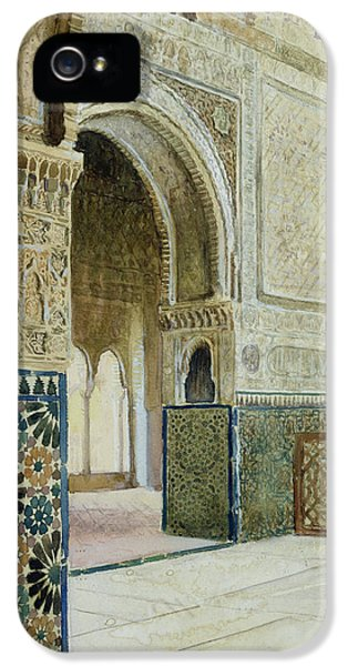 Pillar iPhone 5 Cases - Interior Of The Alhambra  iPhone 5 Case by French School