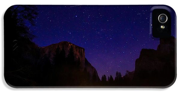 International Space Station Over Yosemite National Park IPhone 5 / 5s Case by Scott McGuire