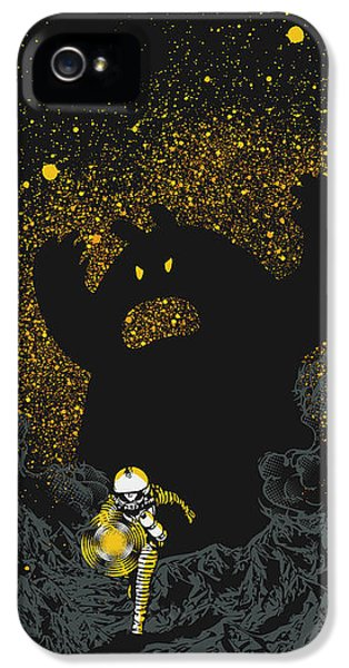 Space iPhone 5 Cases - Intruder iPhone 5 Case by Budi Satria Kwan