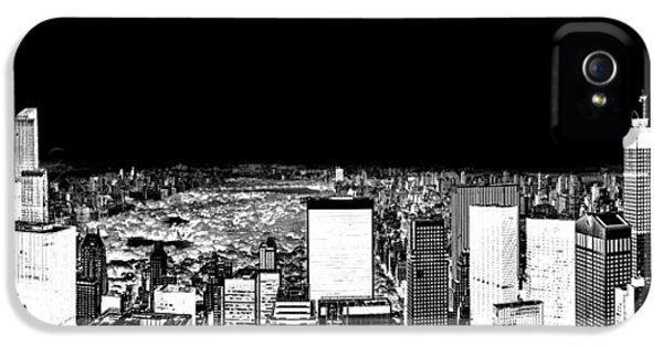 Midtown iPhone 5 Cases - Inverted Central Park View iPhone 5 Case by Az Jackson