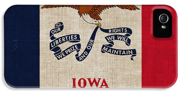 Declaration iPhone 5 Cases - Iowa state flag iPhone 5 Case by Pixel Chimp