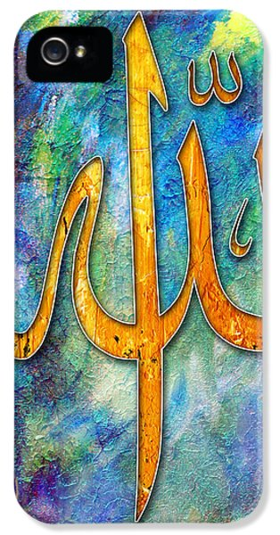 Islamabad iPhone 5 Cases - Islamic Caligraphy 001 iPhone 5 Case by Catf