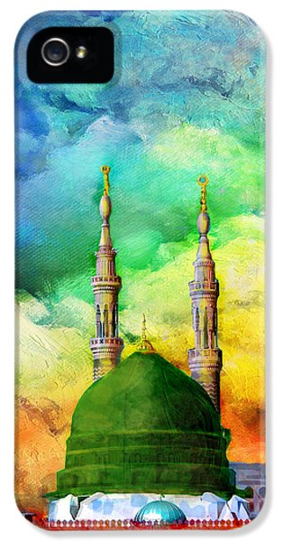 Mohammad iPhone 5 Cases - Islamic Painting 009 iPhone 5 Case by Catf