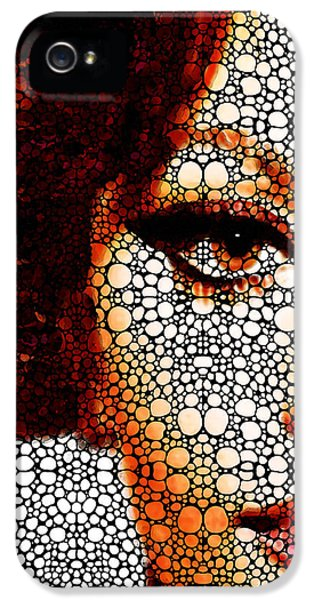 Glamorous iPhone 5 Cases - Italian Beauty - Portrait Stone Rockd Art By Sharon Cummings iPhone 5 Case by Sharon Cummings