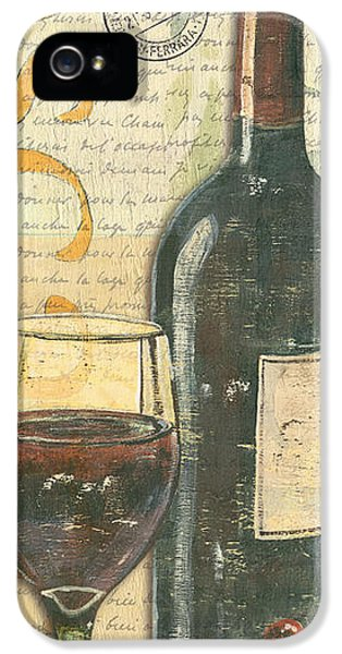 Glass iPhone 5 Cases - Italian Wine and Grapes iPhone 5 Case by Debbie DeWitt