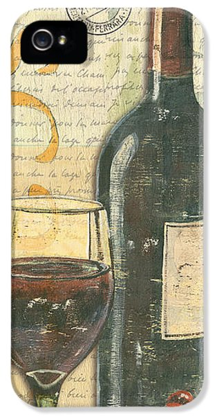 Bar iPhone 5 Cases - Italian Wine and Grapes iPhone 5 Case by Debbie DeWitt