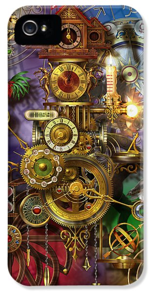 Cog iPhone 5 Cases - Its About Time iPhone 5 Case by Ciro Marchetti