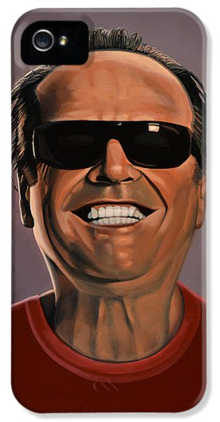 Moviestar iPhone 5 Cases - Jack Nicholson 2 iPhone 5 Case by Paul  Meijering
