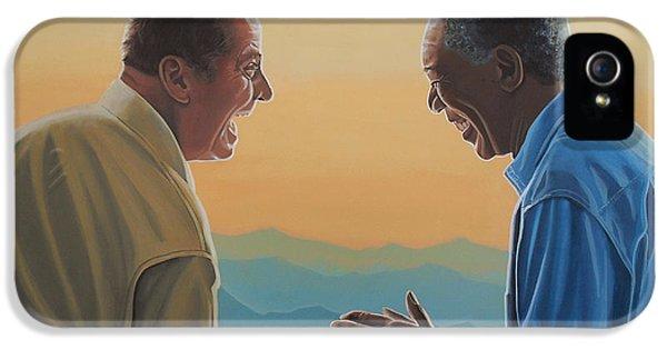 Jack Nicholson And Morgan Freeman IPhone 5 / 5s Case by Paul Meijering