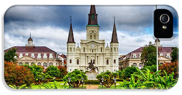 New iPhone 5 Cases - Jackson Square New Orleans iPhone 5 Case by Jarrod Erbe